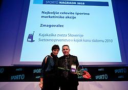 Maja Makovec Brencic and Ivo Tomc during Sporto  2010 Gala Dinner and Awards ceremony at Sports marketing and sponsorship conference, on November 29, 2010 in Hotel Slovenija, Portoroz/Portorose, Slovenia. (Photo By Vid Ponikvar / Sportida.com)