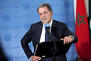 Romano Prodi, Special Envoy of the Secretary-General for the Sahel, briefs members of the press on the situation in that region.