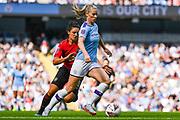 Manchester City Women defender Gemma Bonner (4) during the FA Women's Super League match between Manchester City Women and Manchester United Women at the Sport City Academy Stadium, Manchester, United Kingdom on 7 September 2019.