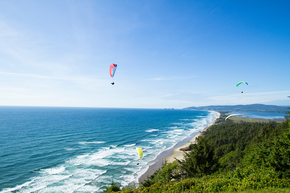 Paragliding over Cape Lookout along the Oregon Coast.