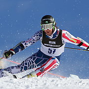 Jared Goldberg, USA, in action during the Men's Giant Slalom competition at Coronet Peak, New Zealand during the Winter Games. Queenstown, New Zealand, 22nd August 2011. Photo Tim Clayton