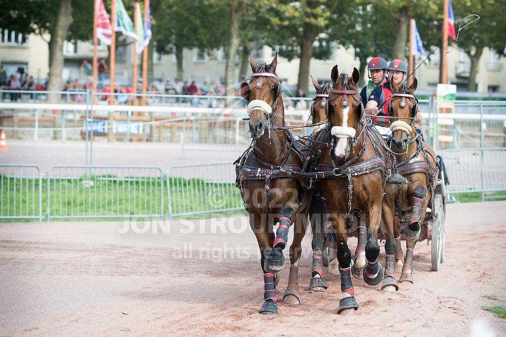 Chester Weber, (USA), Boris W, Boy W, Para, Splash, Uniek - Driving Marathon - Alltech FEI World Equestrian Games&trade; 2014 - Normandy, France.<br /> &copy; Hippo Foto Team - Becky Stroud<br /> 06/09/2014