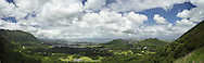 Nuʻuanu Pali Lookout Panoramic, Oahu, Hawaii