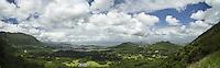 Nuʻuanu Pali Lookout Panoramic, Oahu, Hawaii