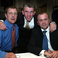 Jim Weir Testimonial...11.04.05<br />Jim Weir with ex-saintees who have also had testimonials Roddy Grant (left) and Allan Preston.<br /><br />Picture by Graeme Hart.<br />Copyright Perthshire Picture Agency<br />Tel: 01738 623350  Mobile: 07990 594431