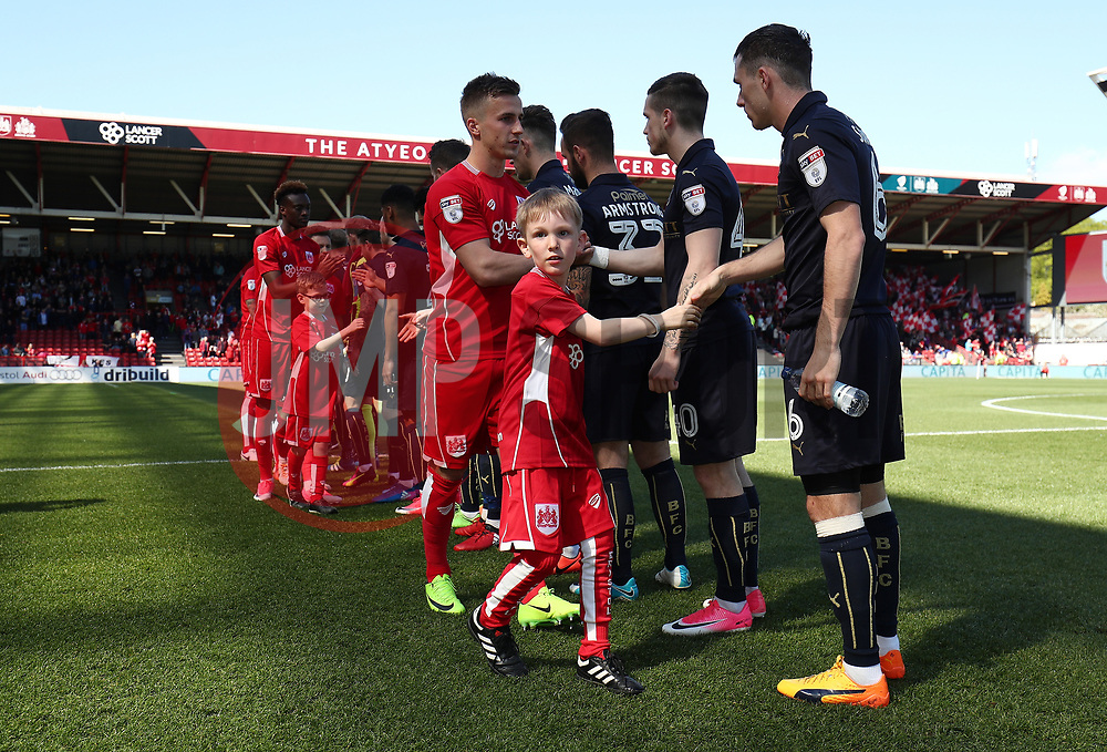 Mascots walk out the the players  - Mandatory by-line: Gary Day/JMP - 22/04/2017 - FOOTBALL - Ashton Gate - Bristol, England - Bristol City v Barnsley - Sky Bet Championship