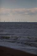Waves on the beach at Knokke, Flanders, Belgium