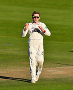 Dom Bess of Somerset during the Specsavers County Champ Div 1 match between Somerset County Cricket Club and Lancashire County Cricket Club at the Cooper Associates County Ground, Taunton, United Kingdom on 14 September 2017. Photo by Graham Hunt.