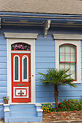 Traditional clapboard creole cottage home in Faubourg Marigny historic district  of New Orleans, USA