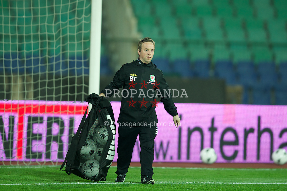 SOFIA, BULGARIA - Tuesday, October 11, 2011: Wales' masseur Ben Thompson before the UEFA Euro 2012 Qualifying Group G match against Bulgaria at the Vasil Levski National Stadium. (Pic by David Rawcliffe/Propaganda)