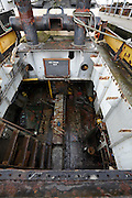 engine room of a tugboat