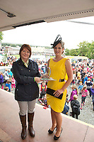 15/08/2013  Triona Sweeney from Millers Clifden with Jean Osborne from Oughterard  winner of the best dressed at the 90th Connemara Pony show in Clifden Co. Galway. Photo:Andrew Downes