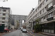 France, La Courneuve , cite of 4000. daily life around the building Balzac.   suburb of / La Courneuve, cite des 4000 , la vie quotidienne dans la barre Balzac   /