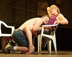 Suranne Jones as Sandra. Oliver Farnworth as Tony..Beautiful Thing by Jonathan Harvey, the Art's Theatre, London, Great Britain, April 16, 2013, April 22, 2013. Photo by: Elliott Franks / i-Images
