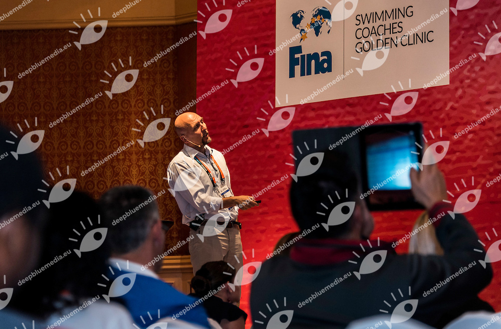 Dirk Lange Headcoach and Head of DPL Project 2016<br /> Fina Swimming Coaches Golden Clinic<br /> FINA 3rd World Aquatics Convention<br /> Doha (Qatar) 28 -30 Nov. 2014<br /> Photo Giorgio Scala / Deepbluemedia
