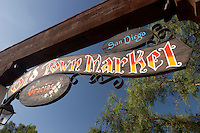 Old Town Market Sign, San Diego, California