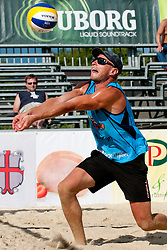 Jure Peter Bedrac (OK beach volley Ptuj) at Beachmaster 2011 tournament for Slovenian BeachTour on July 22, 2011, in Ptuj, Slovenia. (Photo by Matic Klansek Velej / Sportida)