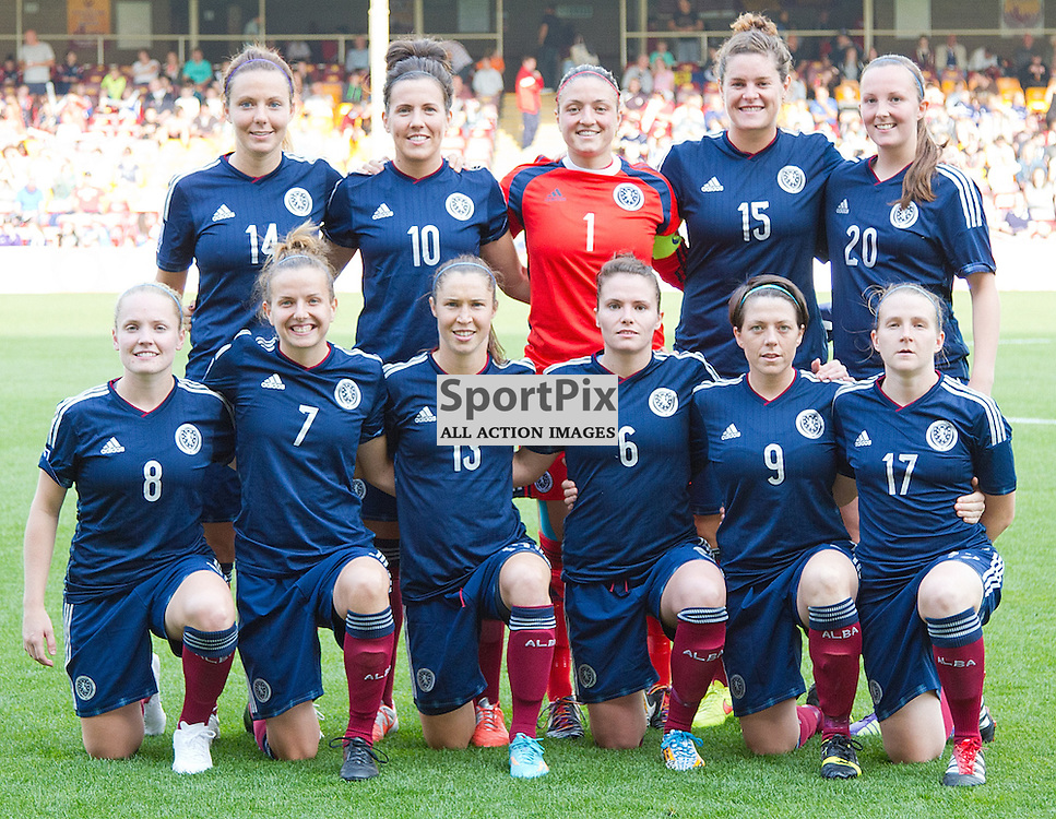Scotland v Faroe Islands FIFA Women's World Cup Canada 2015 Qualifier 13 September 2014; the Scotland team photo before the Scotland v Faroe Islands Women's World Cup Qualifier played at Fir Park Stadium, Motherwell;