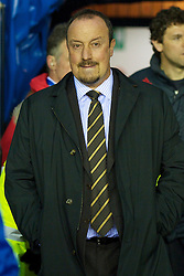 WIGAN, ENGLAND - Monday, March 8, 2010: manager Rafael Benitez before his side's embarrassing 1-0 defeat to Wigan Athletic during the Premiership match at the DW Stadium. (Photo by David Rawcliffe/Propaganda)