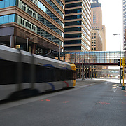 Metro Transit is the transit division of the Metropolitan Council, a regional governmental agency in the Minneapolis-St. Paul metro area of the U.S. state of Minnesota. Metro Transit is the largest operator of bus services in the seven-county region surrounding Minneapolis and St. Paul with 834 buses (including 140 articulated buses) on about 130 routes, and the Hiawatha Line light rail corridor.