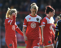 Bristol Academy's Sophie Ingle cuts a dejected figure - Photo mandatory by-line: Dougie Allward/JMP - Mobile: 07966 386802 - 21/03/2015 - SPORT - Football - Bristol - Ashton Gate Stadium - Bristol Academy v FFC Frankfurt - UEFA Women's Champions League - Quarter Final - First Leg
