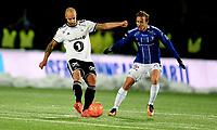 Fotball ,11. mars 2018 , Eliteserien , Sarpsborg - Rosenborg <br /> Tore Reginuissen  ,RBK<br /> Mikkel Agger , sarpsborg