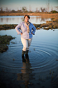 Holly Drinkuth, Director, Outreach and<br /> Watershed Programs for The Nature Conservancy.  Portrait shoot on Pleasure Beach in Bridgeport, CT.