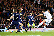 Artem Dzyuba of Russia (22) (Zenit St Petersburg) scores a goal 1-1 during the UEFA European 2020 Qualifier match between Scotland and Russia at Hampden Park, Glasgow, United Kingdom on 6 September 2019.