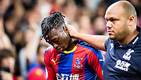 LONDON, ENGLAND - AUGUST 20: Aaron Wan-Bissaka of Crystal Palace walking down to tunnel after receiving red card during the Premier League match between Crystal Palace and Liverpool FC at Selhurst Park on August 20, 2018 in London, United Kingdom. (Photo by Sebastian Frej/MB Media/Getty Images)
