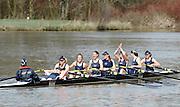 Henley, GREAT BRITAIN,  [Dark Blue] Oxford Osiris  celebrate after winning the women's reserve boat race.   2010 Henley Boat Races, Henley Reach, Henley on Thames, England  Sunday  28/03/2010  28.03.2010. [Mandatory Credit, Peter Spurrier/Intersport-images