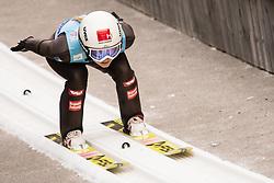 February 7, 2019 - Ljubno, Savinjska, Slovenia - Chiara Hoelzl of Austria competes on qualification day of the FIS Ski Jumping World Cup Ladies Ljubno on February 7, 2019 in Ljubno, Slovenia. (Credit Image: © Rok Rakun/Pacific Press via ZUMA Wire)