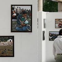 Toluca, Mex.- Visitantes observan la exposición fotografica de los integrantes de la Asociación de Reporteros Gráficos del Valle de Toluca (ARGVT) en la plaza Gonzalez Arratia de Toluca. Agencia MVT / Mario Vazquez de la Torre. (DIGITAL)<br /> <br /> <br /> <br /> <br /> <br /> <br /> <br /> NO ARCHIVAR - NO ARCHIVE