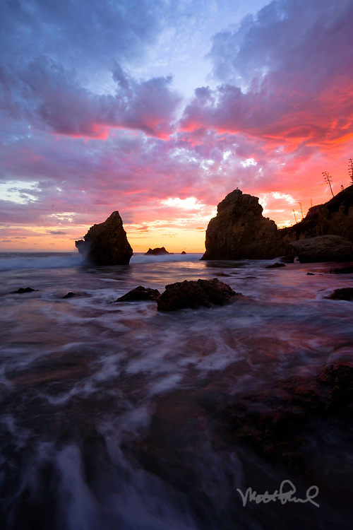 Along the coast of Malibu are some of the best beaches in Southern California. My favorite is El Matador State Beach. The beach is jammed with long stretches of sand, sea caves and massive rocks.