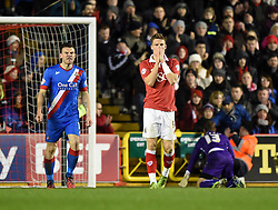 Bristol City's Matt Smith keeps the pressure on Doncaster as he comes close to scoring in the FA Cup third round replay between Bristol City and Doncaster Rovers at Ashton Gate on January 13, 2015 in Bristol, England. - Photo mandatory by-line: Paul Knight/JMP - Mobile: 07966 386802 - 13/01/2015 - SPORT - Football - Bristol - Ashton Gate Stadium - Bristol City v Doncaster Rovers - FA Cup third round replay