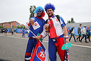 Slovakia fans during the Euro 2016 Group B match between Slovakia and England at Stade Geoffroy Guichard, Saint-Etienne, France on 20 June 2016. Photo by Phil Duncan.