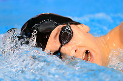 Samuel Budd competes in the Men's Open 1500m Freestyle during day three of the 2017 British Swimming Championships at Ponds Forge, Sheffield.