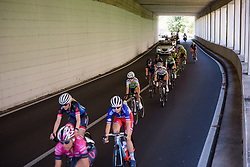 Amalie Dideriksen speeds through a tunnel on Stage 9 of the Giro Rosa - a 122.3 km road race, between Centola fraz. Palinuro and Polla on July 8, 2017, in Salerno, Italy. (Photo by Sean Robinson/Velofocus.com)