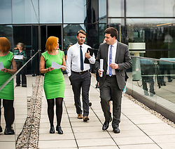 Pictured: Jamie Hepburn and Amanda Jones<br /> <br /> Employment Minister Jamie Hepburn visited Maclay Murray and Spens today as the latest unemployment figures were released. Mr Hepburn met employees who have benefited from family-friendly working policies. He was welcomed to Quatermile One by Amanda Jones, Partner and Head of Dispute, Claire Maclean (Senior Solicitor) and her three year old son Jack, and Alan Delaeny, Director<br /> of Employment, Pensions and Immigration.<br /> Ger Harley | EEm 14 June  2017