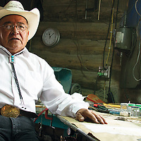 Tommy Lowe, master cluster silversmith, shares insight on his jewelry- making process with Navajo Arts and Crafts Enterprise.