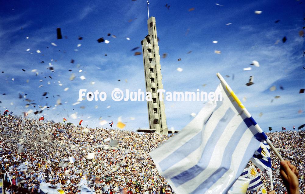 10.01.1981, Estadio Centenario, Montevideo, Uruguay..Crowd of the Copa de Oro final, Uruguay v Brazil, to celebrate the 50th anniversary of the first World Cup..©Juha Tamminen