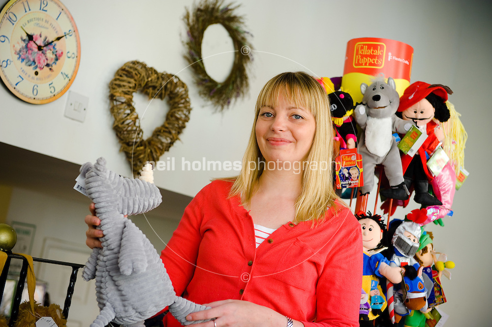 Sarah Colclough in her popular gifs and interiors shop Blue Sky on Bridgegate, Howden, East Yorkshire