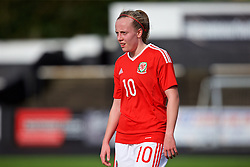 MERTHYR, WALES - Thursday, February 16, 2017: Wales' Emily Poole walks off at half-time during a Women's Under-17's International Friendly match against Hungary at Penydarren Park. (Pic by Laura Malkin/Propaganda)