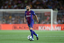 August 7, 2017 - Barcelona, Spain - Jordi Alba of FC Barcelona during the 2017 Joan Gamper Trophy football match between FC Barcelona and Chapecoense on August 7, 2017 at Camp Nou stadium in Barcelona, Spain. (Credit Image: © Manuel Blondeau via ZUMA Wire)