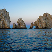 Rock arch at Land's End, in the Southern Tip of Baja California, were the Sea of Cortez meets the Pacific Ocean. Cabo San Lucas, Baja California, Mexico, North America