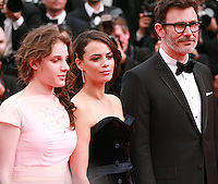 Zukhra Duishvili, Berenice Bejo and Michel Hazanavicius at The Search gala screening red carpet at the 67th Cannes Film Festival France. Tuesday 20th May 2014 in Cannes Film Festival, France.
