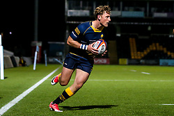 Tom Howe of Worcester Cavaliers scores a try - Mandatory by-line: Robbie Stephenson/JMP - 24/09/2018 - RUGBY - Sixways Stadium - Worcester, England - Worcester Cavaliers v Sale Jets - Premiership Rugby Shield