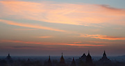 Sunrise over Bagan temples (Myanmar)