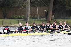 2012.02.25 Reading University Head 2012. The River Thames. Division 1. Thames Rowing Club A IM3 8+