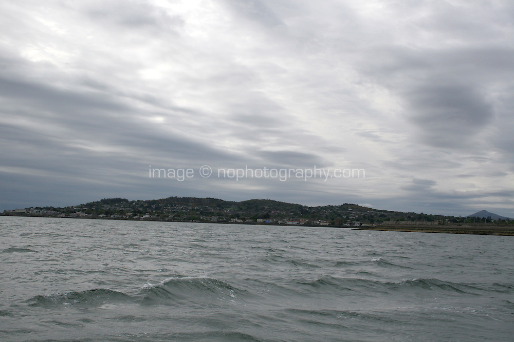 Wiew of Dalkey area in Dublin Ireland from the sea