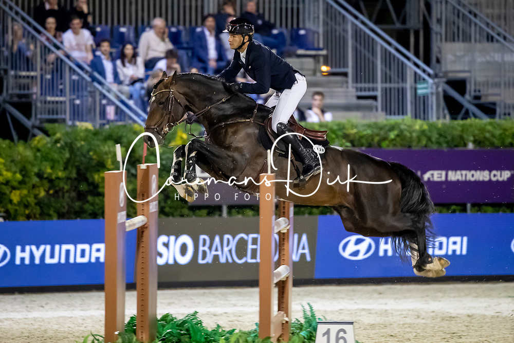 Almeida Rodrigo Giesteira, POR, Kafka vd Heffinck<br /> Hyundai Cup of The City of Barcelona<br /> Barcelona 2019<br /> © Dirk Caremans<br />  04/10/2019
